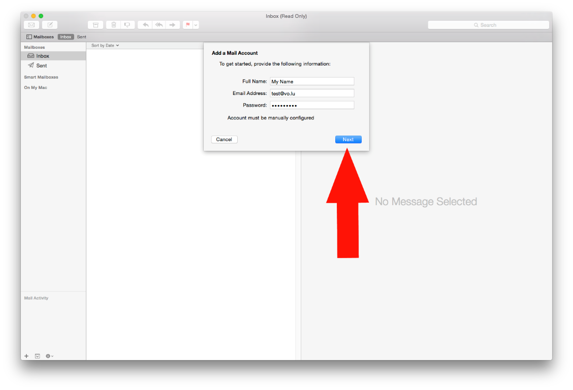 OSX/Mac - IMAP configuration - Visual Online S A
